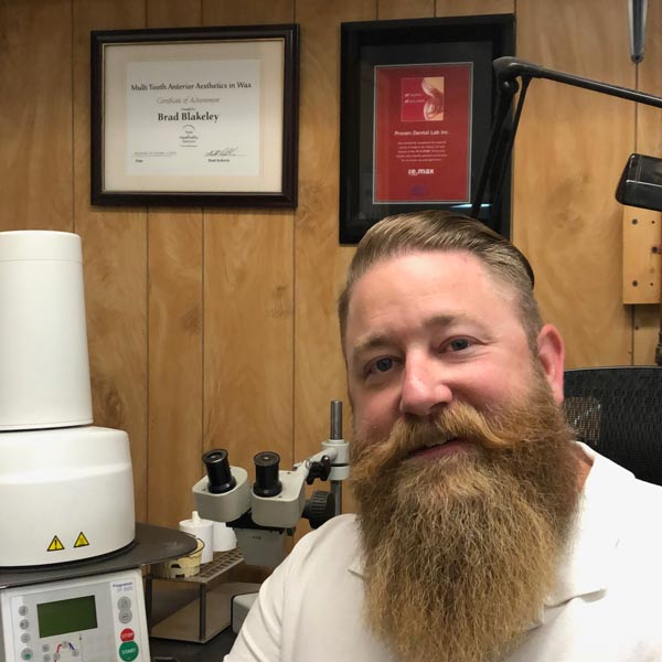 Brad Blakeley, owner/operator of Proven Dental Lab