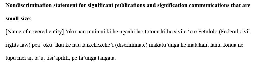 sample ce statement tongan